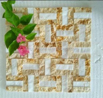 Gold Marmor Mosaik Boden Schiefer Kunst Mosaikfliesen Für Wand