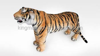 Giant Plush Tiger Toy Realistic Brown Tiger Plush Toys Large Size