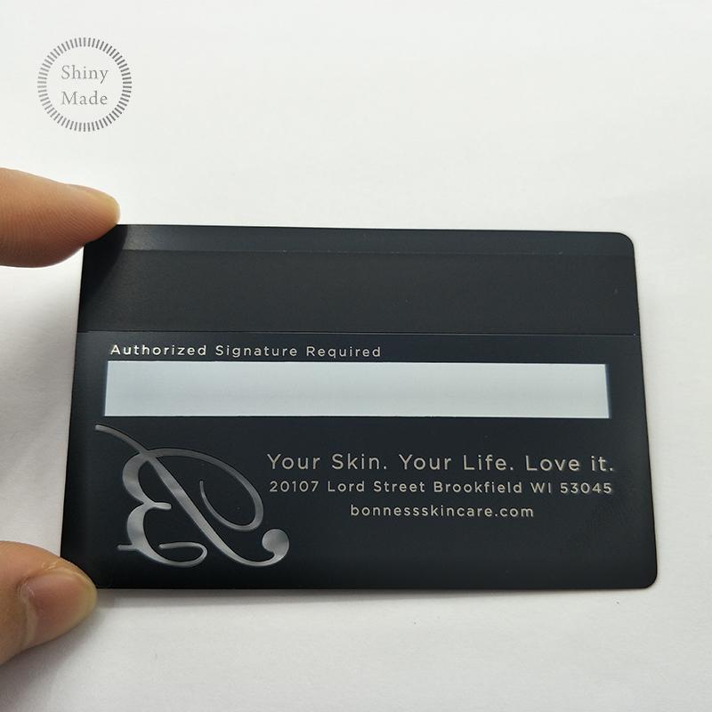 Benutzerdefinierte Kreditkarte Größe Schwarz Metall Visitenkarte Mit Qr Code Laser Geschnitten Visitenkarte Mit Magnetstreifen Buy Schwarz Metall