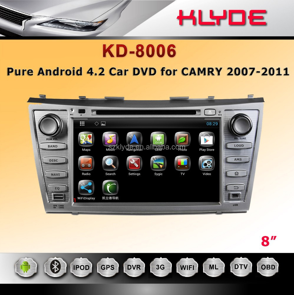 Rockchip 3066 Cortex A9 dual-core Pure Android 4.2 for dvd gps player for camry 2007-2011