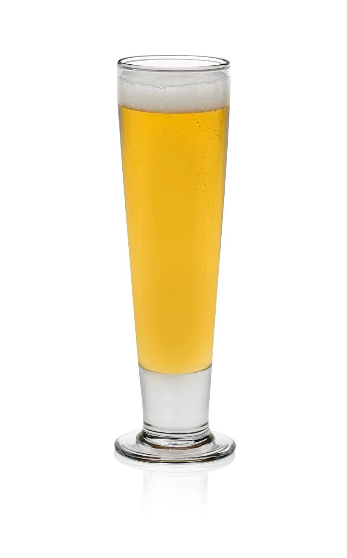 Libbey Stockholm Pilsner Beer Glasses, Dishwasher-Safe, Lead-Free, 14.5-ounce (Set of 4)
