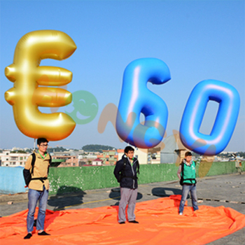 Outdoor Advertising Decoration Inflatable Numbers Balloons Promotions Giant Pvc Letters