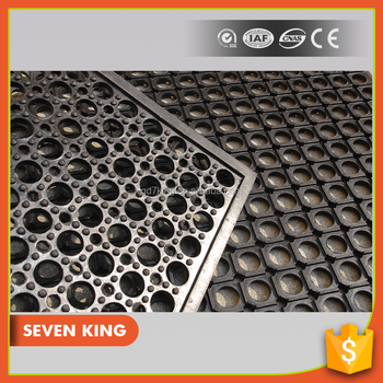 Qingdao 7king Factory Cheap Perforated Interlocking Rubber