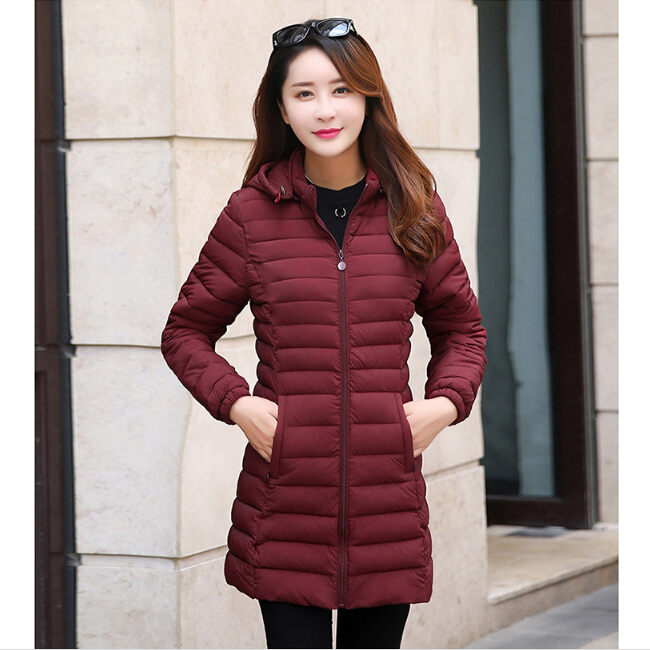 2018 Fashion Windbreaker Lightweight Black Womens Down Feather Jacket Winter Puffer Jackets Quilted