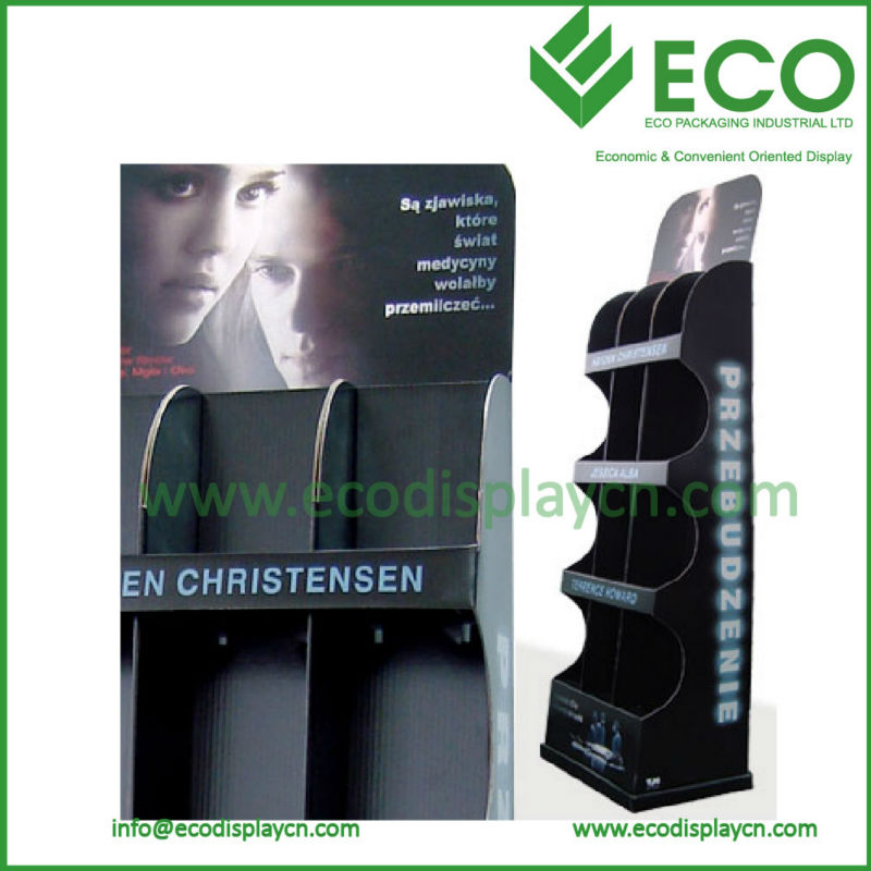 ECO Green Cardboard Display Shelf&Racks for Magazines CD Books, POP Display Stand