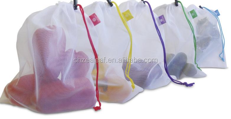 Fruit Vegetable Green Storage Bag Eco Friendly Mesh Reusable Produce