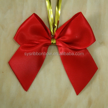 wholesale christmas ribbon decorative ribbon bows with wire twist tie - Christmas Decorations Bows