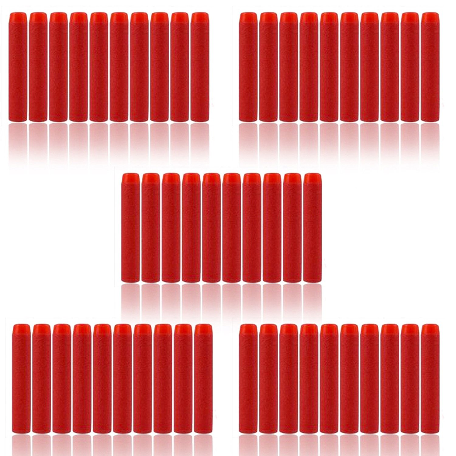 500Pcs 7.2x1.3 Cm Toys EVA Foam Soft Refill Bullet Darts for Nerf N-Strike Elite Series Blasters,For Kid Toy Gun Fire Blaster