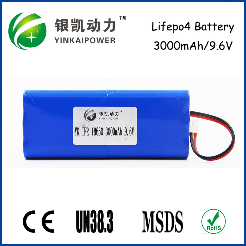LiFePo4 battery 9V battery 320mah Rechargeable Battery 3Ah 9.6V LiFePO4 9V rechargeable bttery