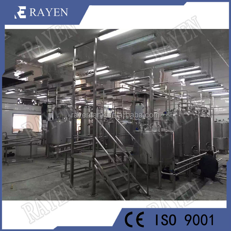 Sanitary SUS304 Stainless steel milk processing plant soy milk production