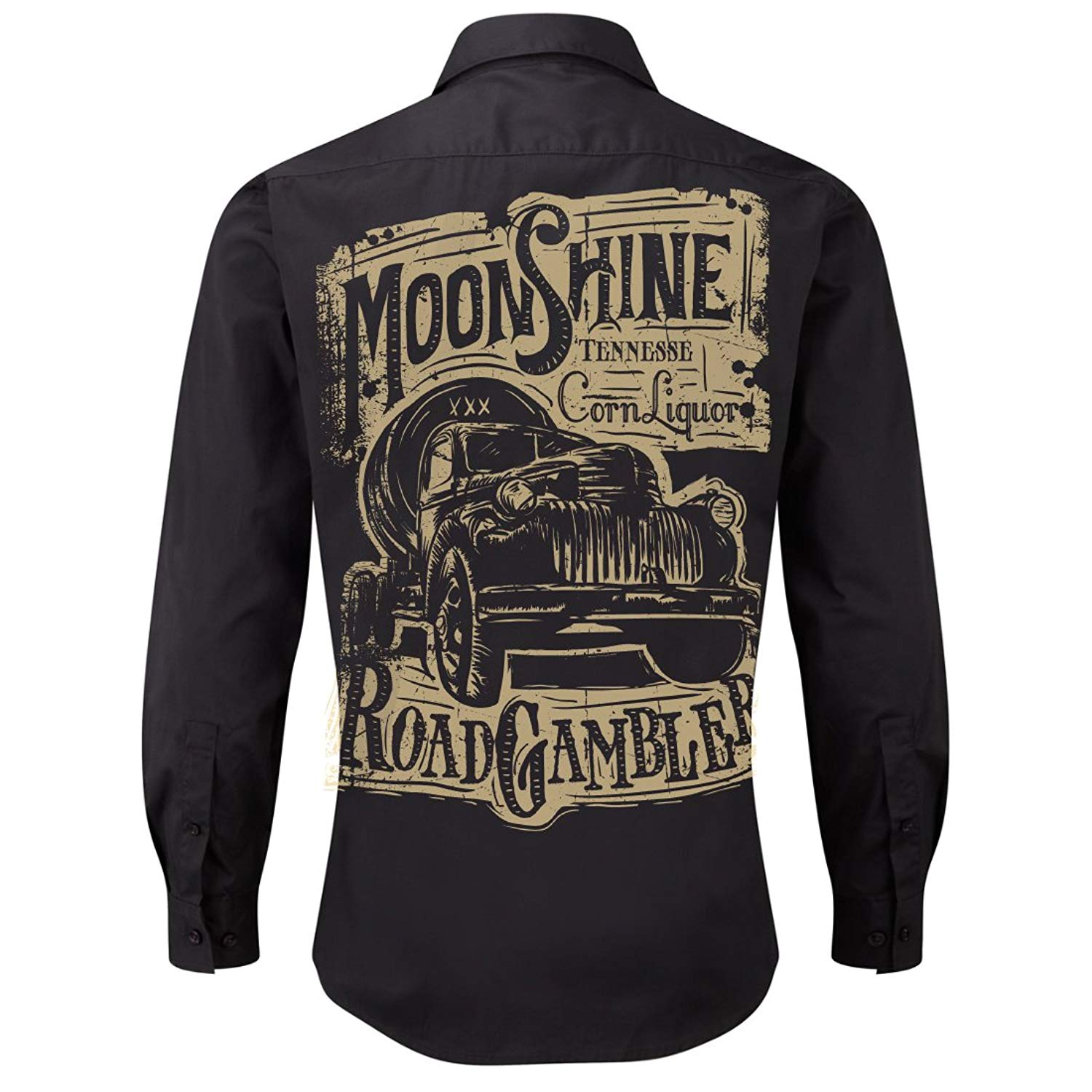 ROAD RODEO Rockabilly,Mechanic Work Shirt, Longsleeve, Rock'n'Roll, Pick Up, Booze, Moonshine