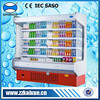 Energy saving upright showcase cooler for supermarket
