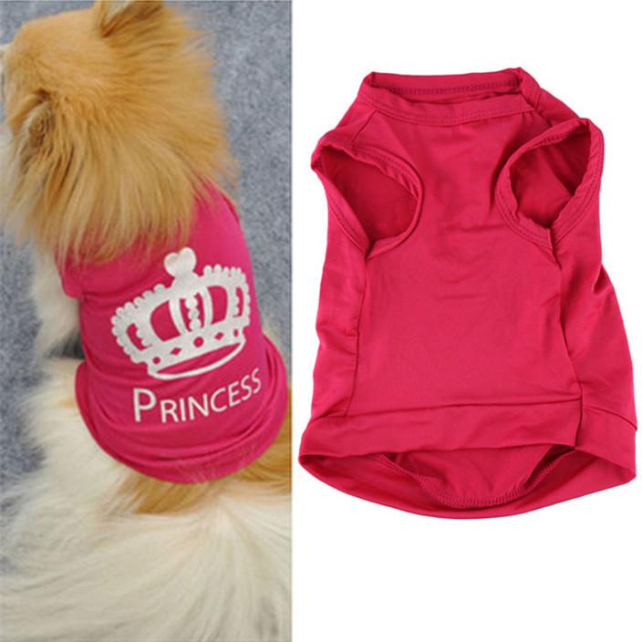 Роман дизайн собаку симпатичные принцесса футболка одежда жилет летнее пальто пагги костюмы jz