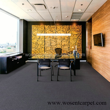 Dark Grey Commercial Office Floor Pvc Backing Carpet Tile For Decoration