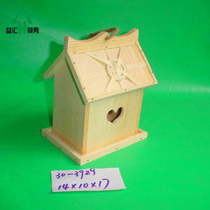 Cheap wooden bird nest wood crafts box for customized