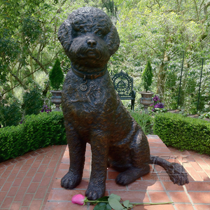Hot Cast Menthod bronze small dog sculpture for garden decor