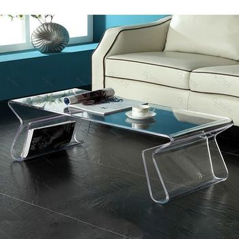 modern design clear acrylic bedroom furniture table