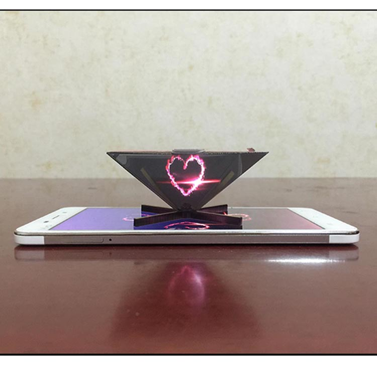 showcase holographic 3d pyramid hologram