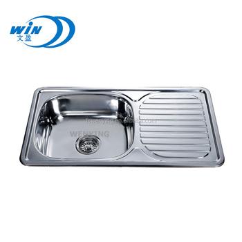 Whole Singe Bowl Kitchen Sink For Ukrain Market 7642 With Dish Drainer