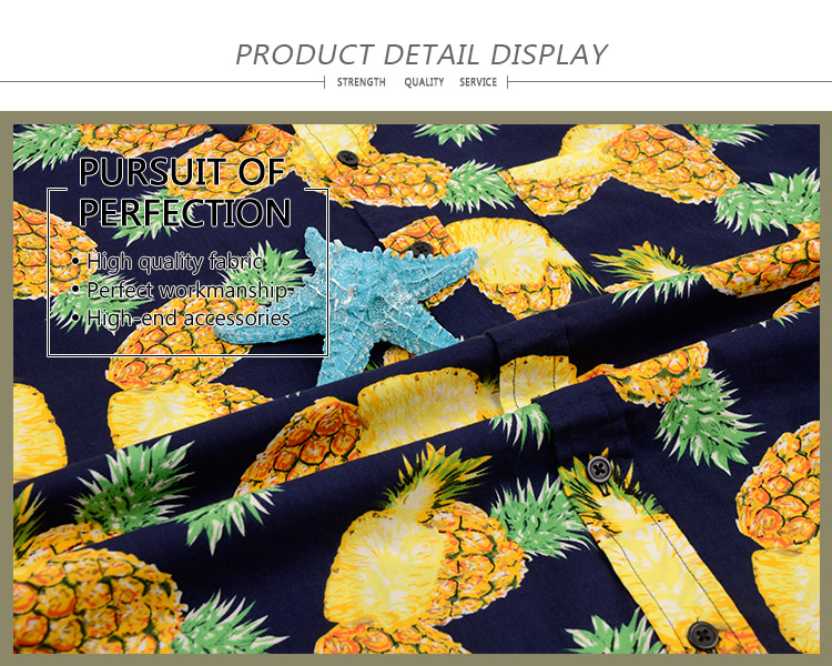 New fashion design bright colorful summer plain printed short sleeve men hawaiian beach shirts florals