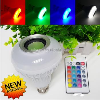6w Smart Led Bulb Bluetooth 4 0 E27 Dimmable Rgbww Mi Light Led Lamp Color  Change Music Ball Led Light For Android Ios 110v 220 - Buy Multi-color E27