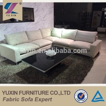 German Style Streamlined Tasteful Corner Sofa Design,down Feather Linen Sofa