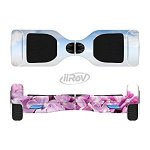The Blue Sky Pink Flower Field Full-Body Wrap Skin Kit for the iiRov HoverBoards and other Scooter (HOVERBOARD NOT INCLUDED)
