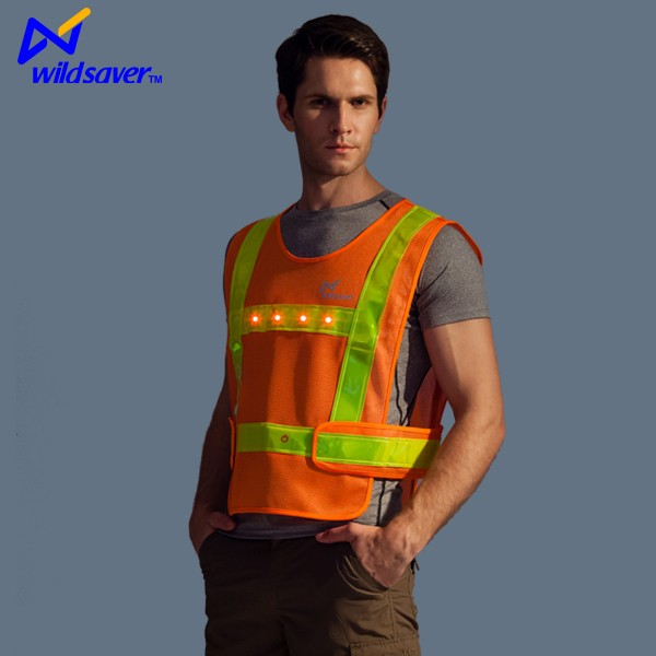 Lighting up work wear uniform LED team vest
