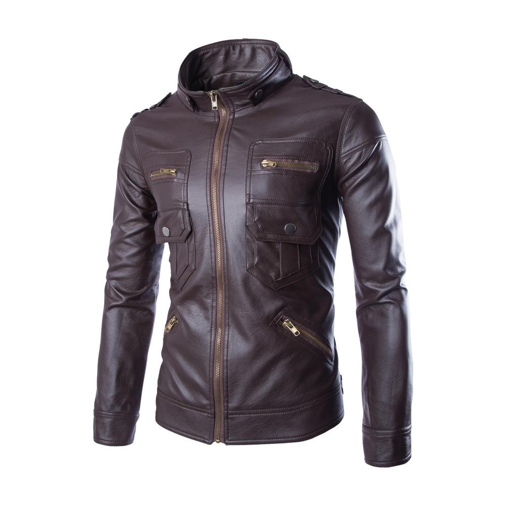 Men's Real Fur Motor Riding Leather Jacket Kashmir Accept Oem ...