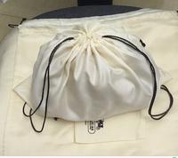 xianjian custom made logo satin silk dust bag ,storage packging bag, drawstring bag for handbag and shoe and belt