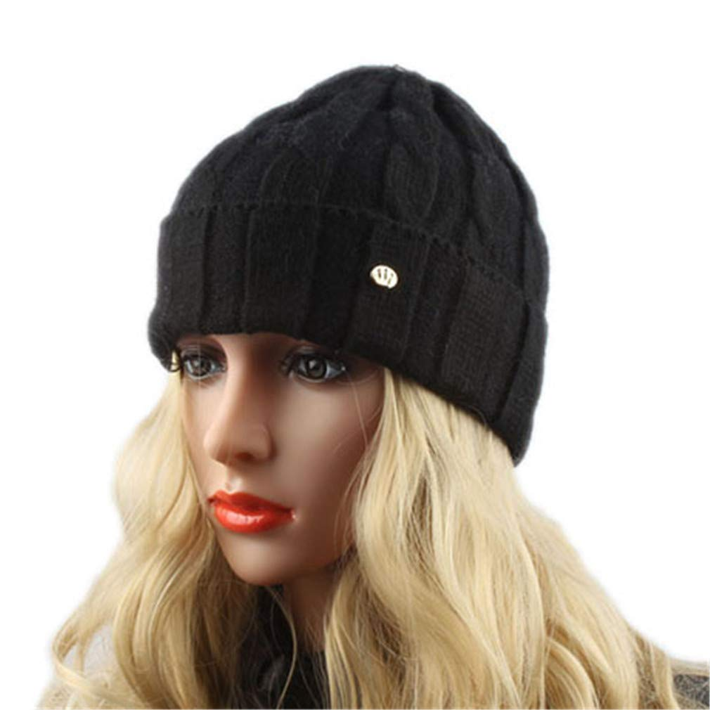 284d00a0edd3d Get Quotations · STARSTARTS Winter Wool Hats for Women Knitted Beanies Warm  Cap Casual Outdoor