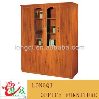 Modern  Door Wooden Lockable File Cabinet Bookcase Book Document