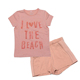 2018 Summer teen girl clothing set bulk kids clothing wholesale pink clothing