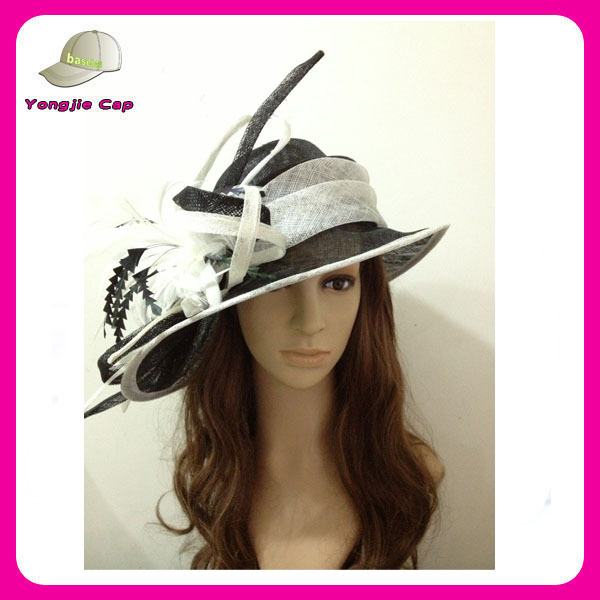 fancy Ladies sinamay fascinator hats for party and wedding women church hats wholesale