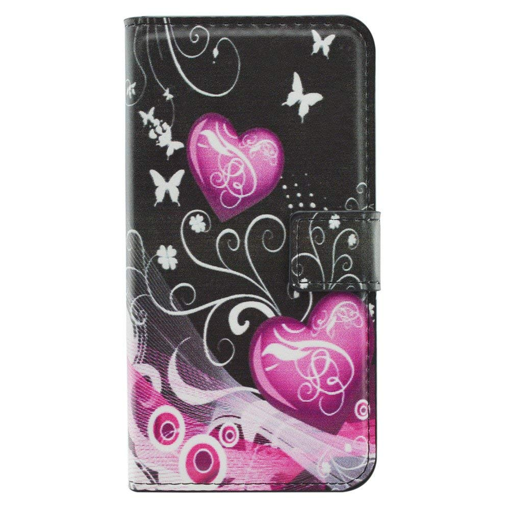 Galaxy S9 Plus Case,XYX [Kickstand][Card Slots] Premium PU Leather Phone Wallet Case for Samsung Galaxy S9 Plus,Double Heart Flower
