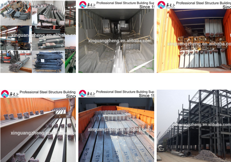 Prefabricated metal structure steel building/steel warehouse high quality with cheap price