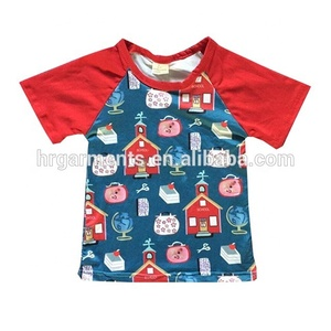 European fashion design boy's back to school t-shirts wholesale toddler boy's clothing