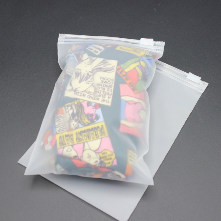 Goedkope Custom Frosted Clear Poly Zakken Afdrukken PE CPE Slider Zip Lock Plastic Poly Bag