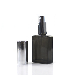 HIGH quality 15ml 30ml 50ml 100ml Frosted clear black rectangular perfume glass spray bottle