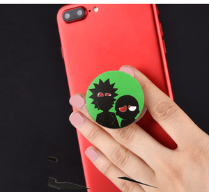 mobile phone accessories pull twice to expand black white color pop up phone socket custom