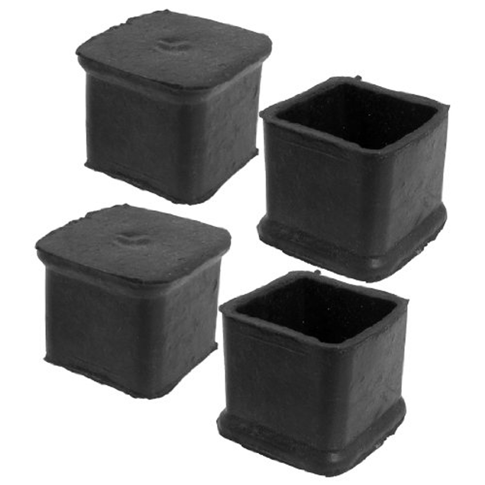 Buy JFYB 4Pcs Black Square Chair Table Leg Rubber Foot Covers Protectors  28mm X 28mm In Cheap Price On Alibaba.com
