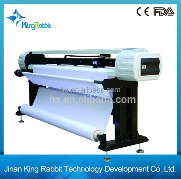 King Rabbit Double Head Inkjet Plotter High speed inkjet plotter HJ-1800/CAD HP45 Garment Inkjet Printer HJ-1800 with updated de