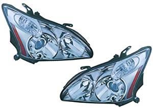 04-06 Lexus RX330 07-09 RX350 06-09 RX400h Headlights Headlamps Pair Set