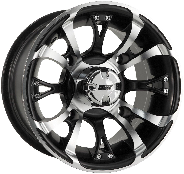 Douglas Wheel Tire 989-15 Nitro Wheel - 12x7 - 2+5 Offset - 4/110 - Machined , Bolt Pattern: 4/110, Wheel Rim Size: 12x7, Rim Offset: 2+5, Color: Machined, Position: Front/Rear