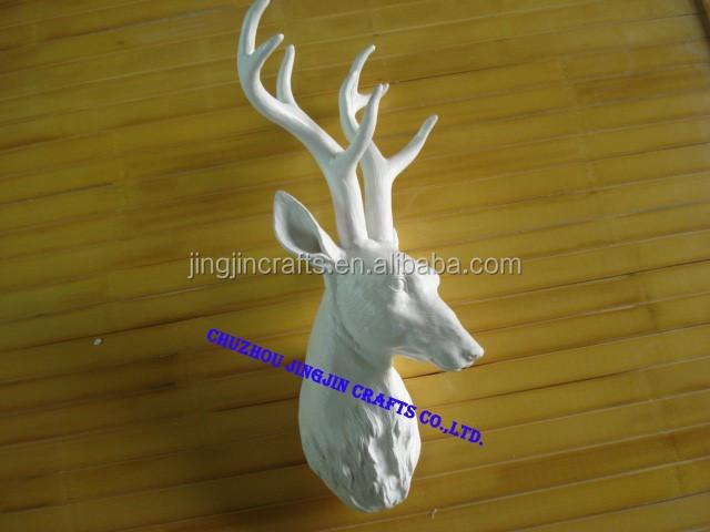 2014 Best Selling White Deer Head Christmas White Deer Head,White Deer Head Wall Decor,Resin Craft Wall-mounted Deer Head - Buy Artificial Deer ...