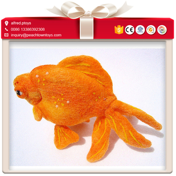 Bright red beautiful life like plush toy goldfish