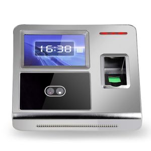 Face Fingerprint Password Attendance Machine Employee Checking-in Payroll Recorder TCP/IP HVGA Screen DC 12V Attendance Clock
