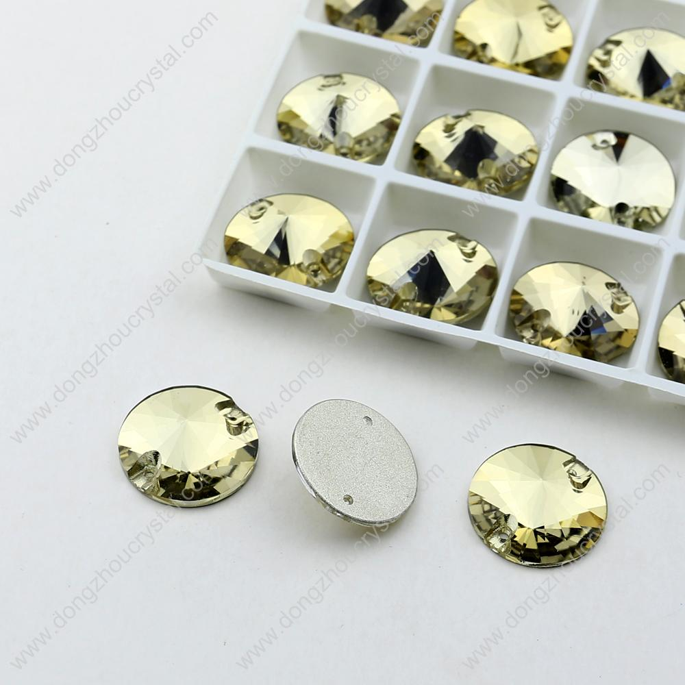 HOT!! superb quality crystals! Flatback round sew/sewing on crystal rhinestones factory wholesale