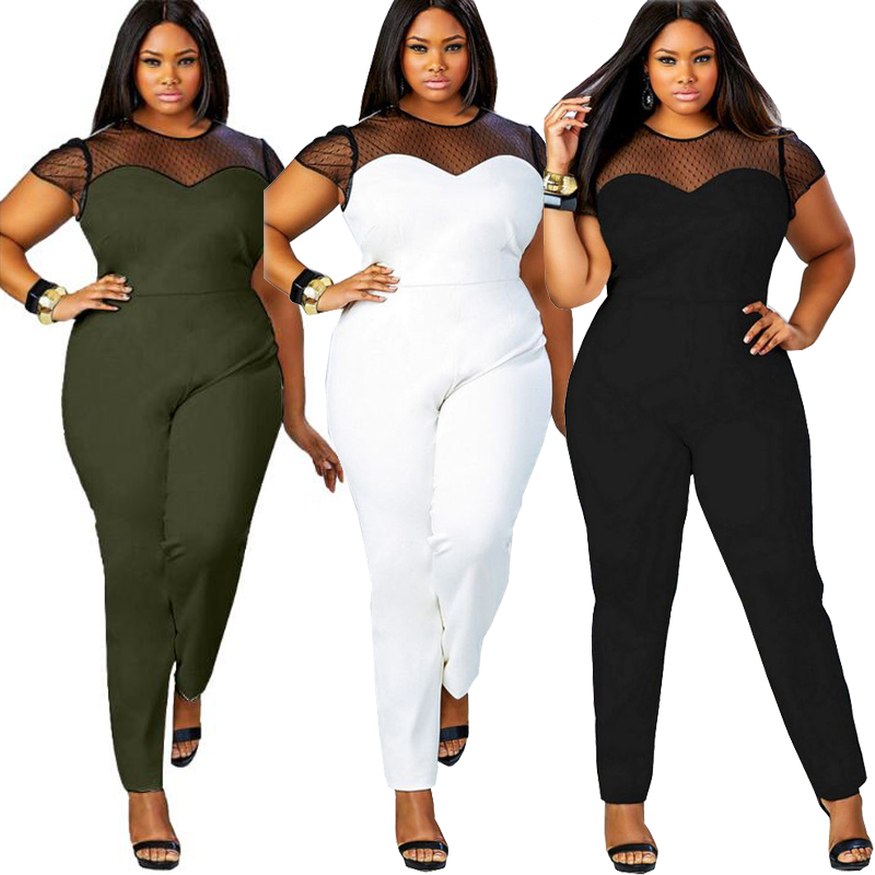 2019 Custom Summer Lace Sleeve One Piece Women Bodycon Jumpsuit, Sexy Jumpsuit Women