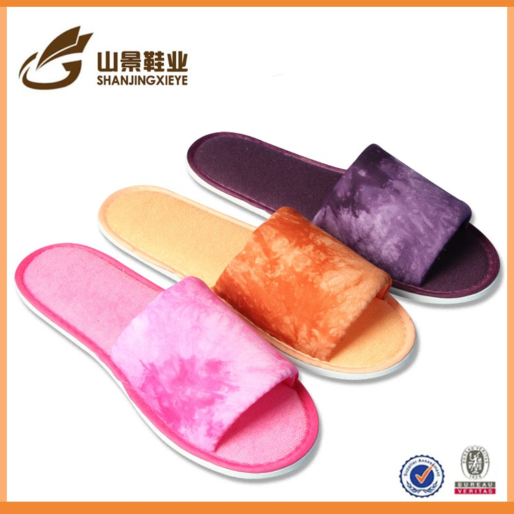 fancy beautiful winter slipper indoor guest slipper